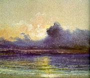 Charles Blechen Sunset at Sea oil painting artist