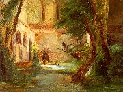 Charles Blechen Monastery in the Wood oil painting artist