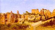 Charles Blechen The Ruins of the Septizonium on the Palatine in Rome oil painting artist