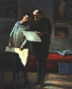 Honore  Daumier Advice to a Young Artist oil painting artist