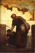 Honore  Daumier The Laundress oil painting artist
