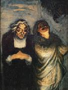 Honore  Daumier Scene from a Comedy oil painting artist