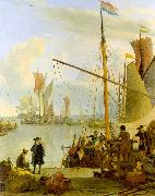 Ludolf Backhuysen The Y at Amsterdam viewed from Mussel Pier oil painting picture wholesale
