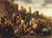 MOEYAERT, Claes Cornelisz. Moses Ordering the Slaughter of the Midianitic ag oil painting artist