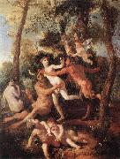 Nicolas Poussin Pan and Syrinx oil painting artist