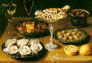 Osias Beert Still Life with Oysters and Pastries oil painting picture wholesale