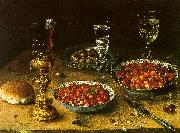 Osias Beert Still Life with Cherries Strawberries in China Bowls oil painting picture wholesale