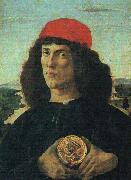 Sandro Botticelli Portrait of a Man with a Medal oil painting artist