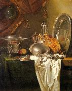 Willem Kalf Still Life with Chafing Dish, Pewter, Gold, Silver and Glassware oil painting artist