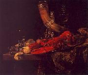 Willem Kalf Still Life with Lobster, Drinking Horn and Glasses oil painting artist