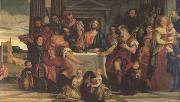 Paolo  Veronese Supper at Emmaus (mk05) oil painting artist