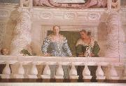 Paolo  Veronese Giustiana Barbaro and her Nurse (mk08) oil painting artist