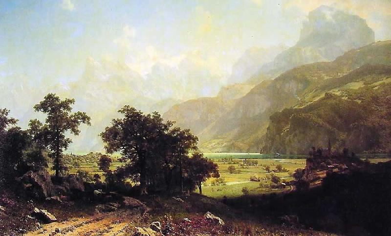 Albert Bierstadt Lake Lucerne, Switzerland oil painting image