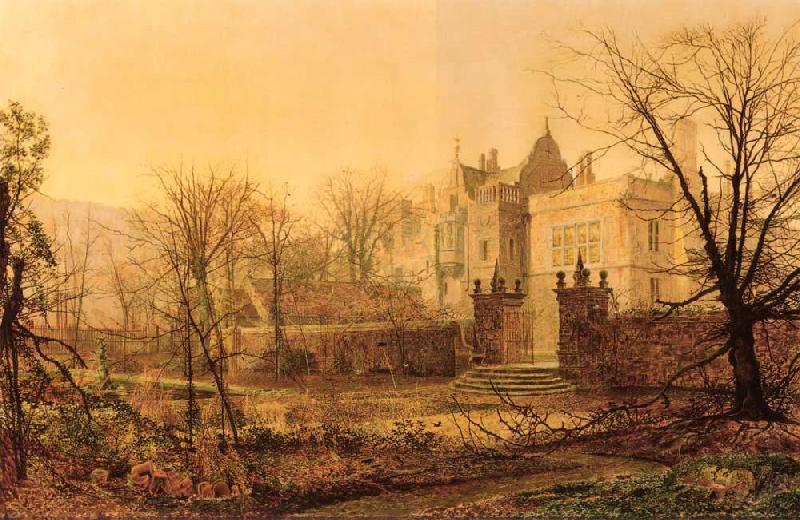 Atkinson Grimshaw Knostrop Hall, Early Morning oil painting image