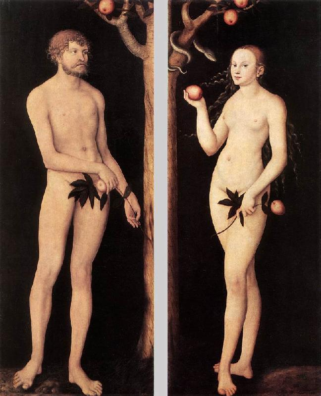 CRANACH, Lucas the Elder Adam and Eve 01 oil painting image
