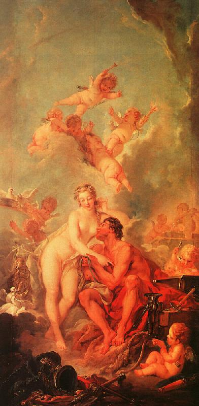 Francois Boucher The Visit of Venus to Vulcan oil painting image