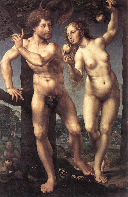 GOSSAERT, Jan (Mabuse) Adam and Eve safg oil painting image