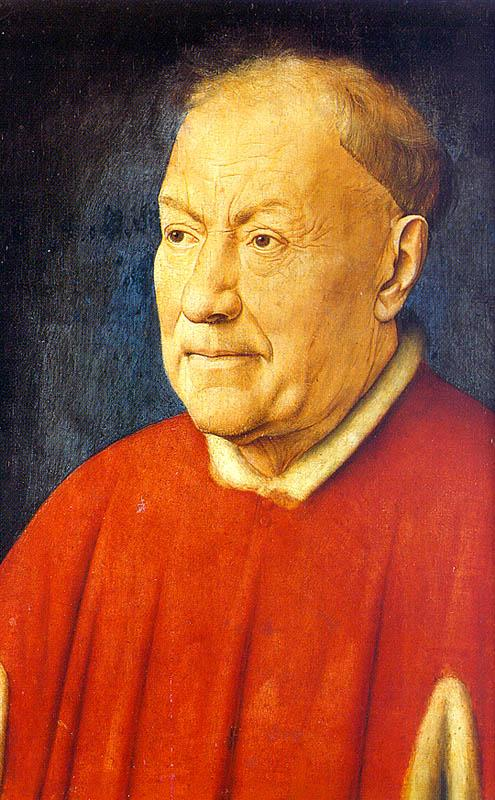 Jan Van Eyck Portrait of Cardinal Niccolo Albergati oil painting image