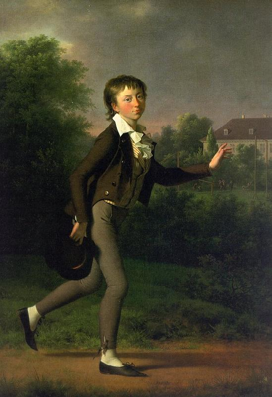 Jens Juel A Running Boy oil painting image