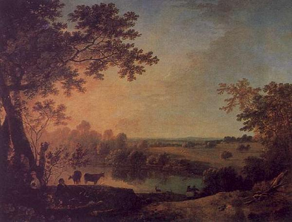 Richard  Wilson View in Windsor Great Park oil painting image