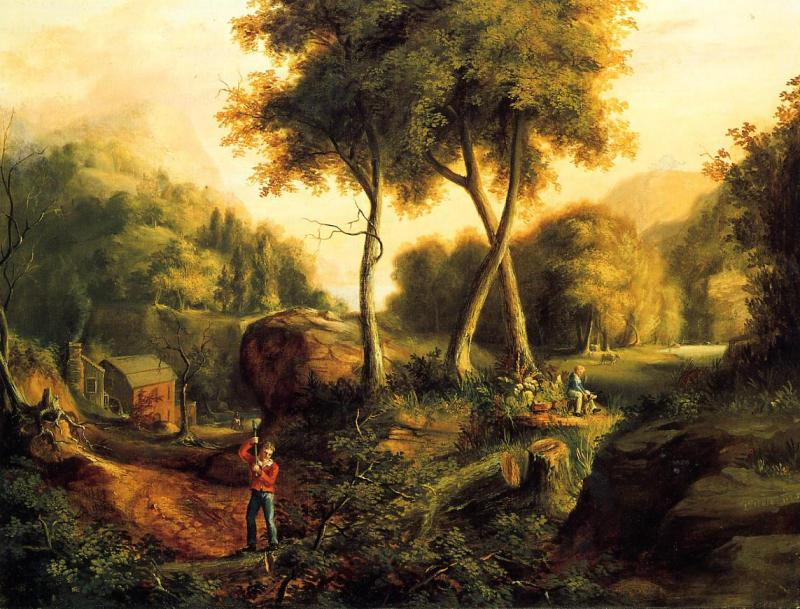 Thomas Cole Landscape1825 oil painting image
