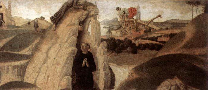 Neroccio Three Episodes from the Life of St Benedict oil painting image