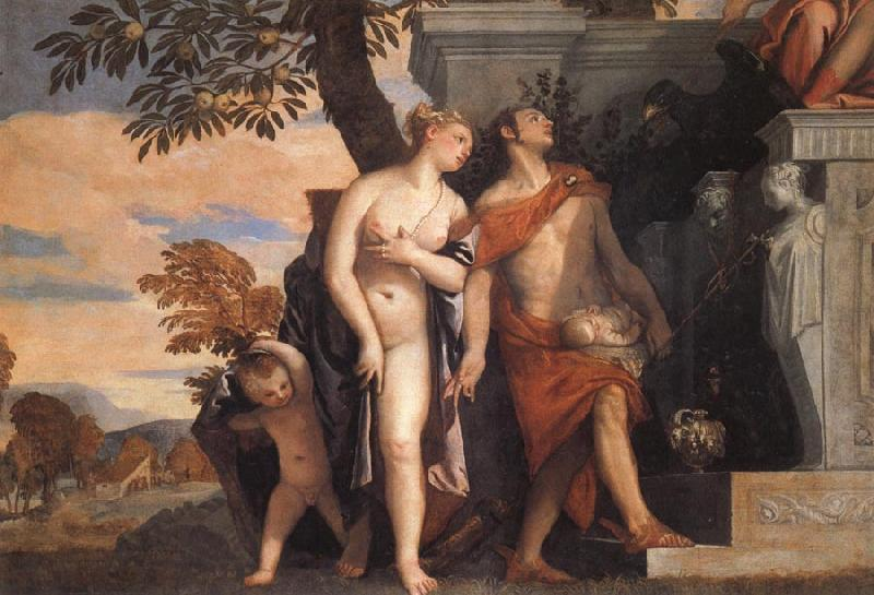 Paolo Veronese Venus and Mercury Present Eros and Anteros to Jupiter oil painting image
