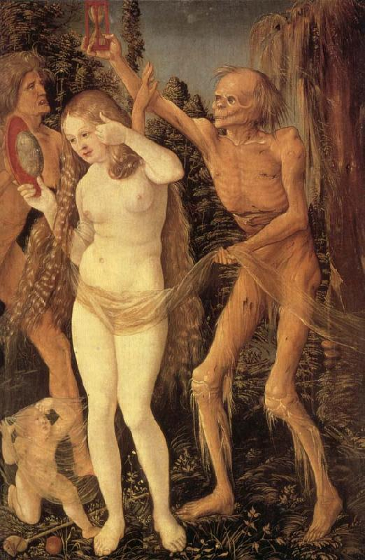 Hans Baldung Grien The Three Stages of Life,with Death oil painting image