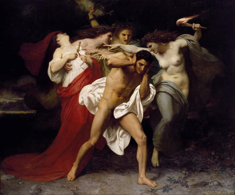 Adolphe William Bouguereau Orestes Pursued by the Furies (mk26) oil painting image