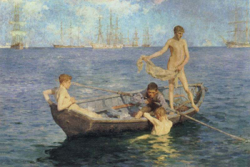 Henry Scott Tuke August Blue oil painting image